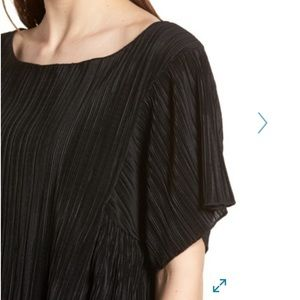 Madewell pleated short sleeve top black